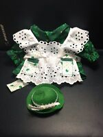 Vintage Sewing Home Made Green St Patrick's Day 2 Pc Shirt & Hat
