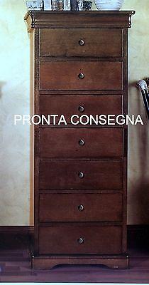 MOBILE CASSETTIERA SETTIMINO IN LEGNO COLORE NOCE PRONTA CONSEGNA x CAMERA 5871