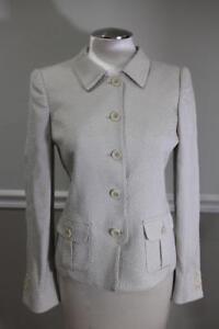 Collezioni Texture Armani Up Fabric Jacket Blazer ja300 Størrelse 6 Rdaqzwd