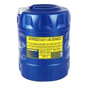 20-Liter-MANNOL-Kuehlerfrostschutz-Kuehlmittel-Advanced-AG13-Gelb-bis-40-C