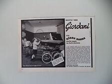 advertising Pubblicità 1968 PASSEGGINO CARROZZINA NINNA NANNA TWIGGY GIORDANI