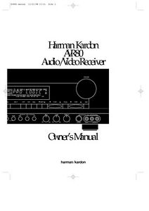 harman kardon avr80 receiver owners manual ebay rh ebay com Curtis 1228 Manual HK 320