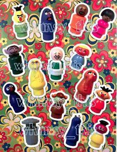 Vintage-Fisher-Price-Little-People-Complete-Sesame-Street-Figures-MAGNET-Set-15