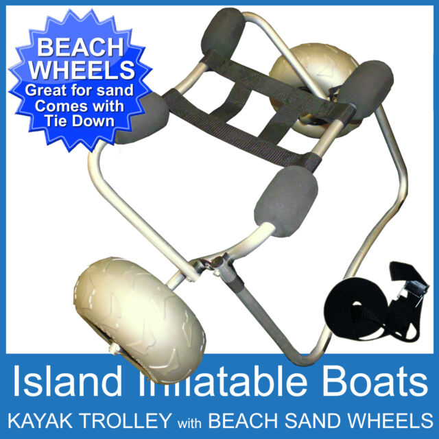 KAYAK ✱ BEACH TROLLEY ✱ COMPACT COLLAPSIBLE Alloy Canoe SUP SAND CART WHEELS NEW