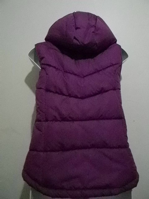 Green Generation Women's Purple Puffy Warm Microfibre Microfibre Microfibre Hood Vest Size 11 12 NEW 9acf7e