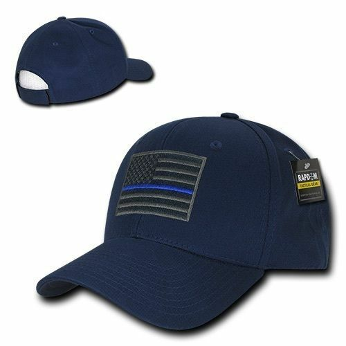 Navy USA American Flag Thin Blue Line Tactical Operator Cotton Baseball Cap  Hat  2222f4f26803