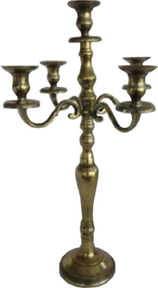 Kerzenleuchter 5-armig Ausführung antikmessing 62cm