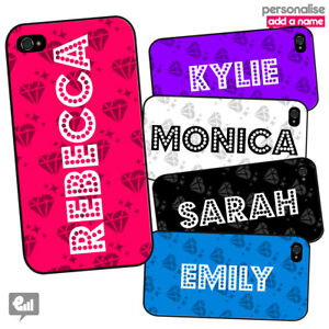 your name personalised diamond phone case cover for iphone galaxy