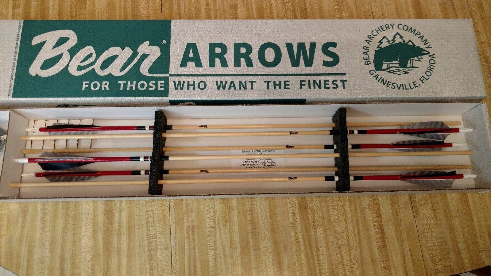 New  pink City Bear archery vintage (59).. 40 45  2 dozen bear wood arrows