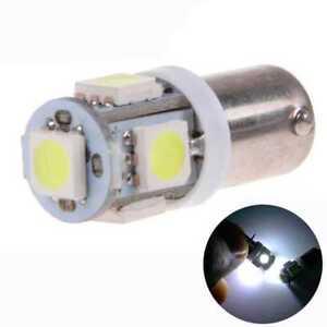 2-Bombillas-para-Coche-5-LED-BA9S-H6W-de-Posicion-Blanco-Efecto-Xenon-DC-12V