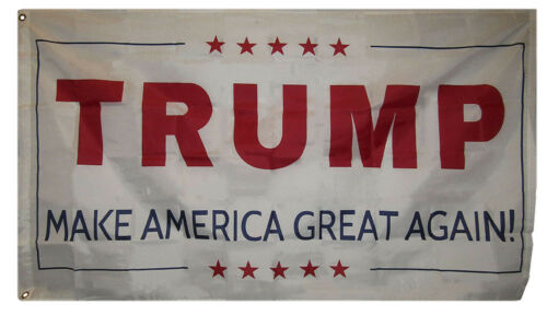 3x5 Trump Make America Great Again White Flag Poly 3/'x5/' Grommets MAGA V