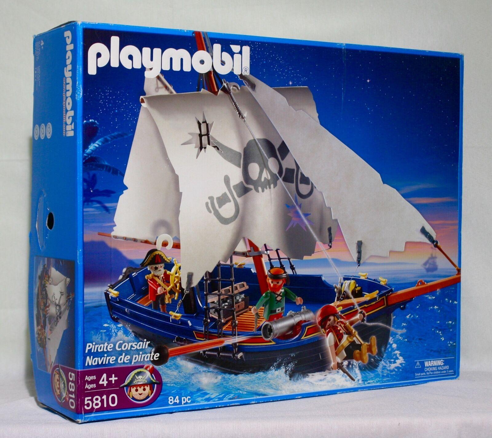 prendi l'ultimo RETIrosso Playmobil Playmobil Playmobil PIRATE CORSAIR SHIP 5810  NIB sealed  80% di sconto