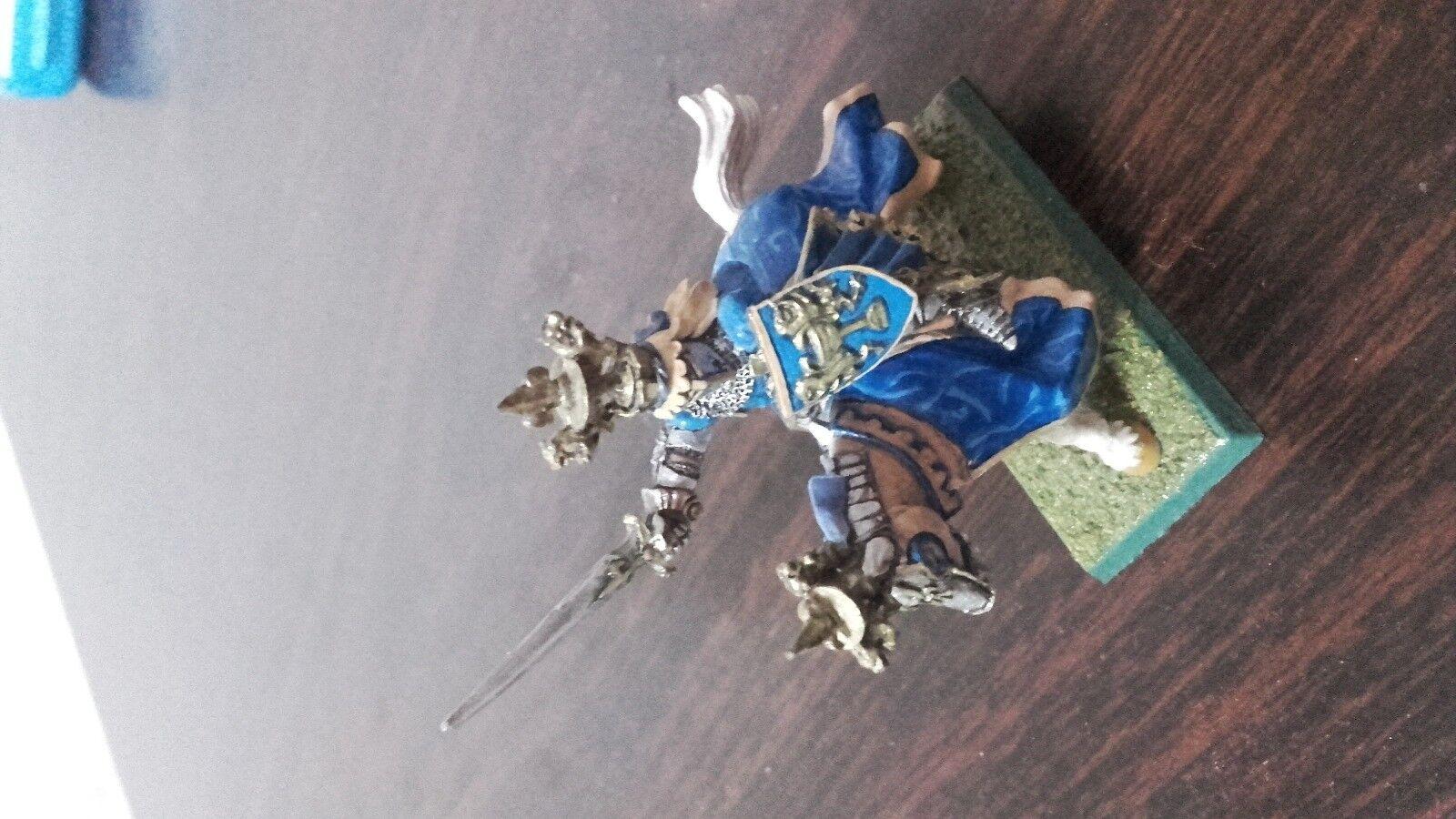 Warhammer Classic Citadel Bretonnian GRAIL KNIGHT PALADIN metal cavalry Hero
