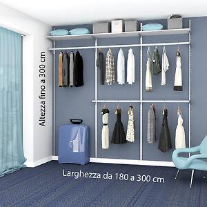 Cabina armadio su misura completa con ripiani e tubi - Cabina armadio con finestra ...