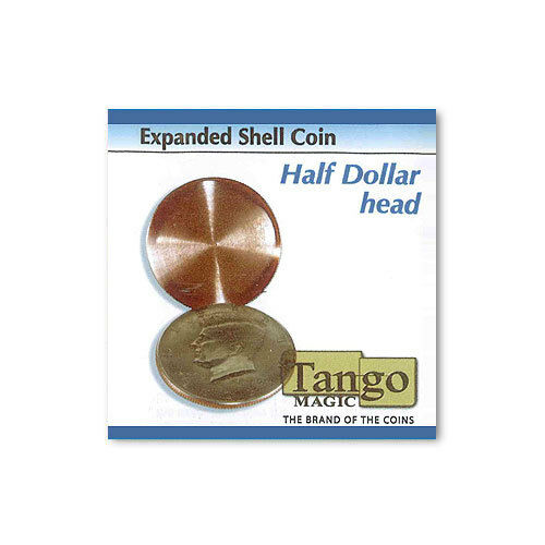 Expanded Shell Coin - Half Dollar (head) by Tango Magic - Magic with Coins