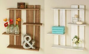 Wood Pallet Multi-Tier Wall Shelves Shelf Rustic Country ...