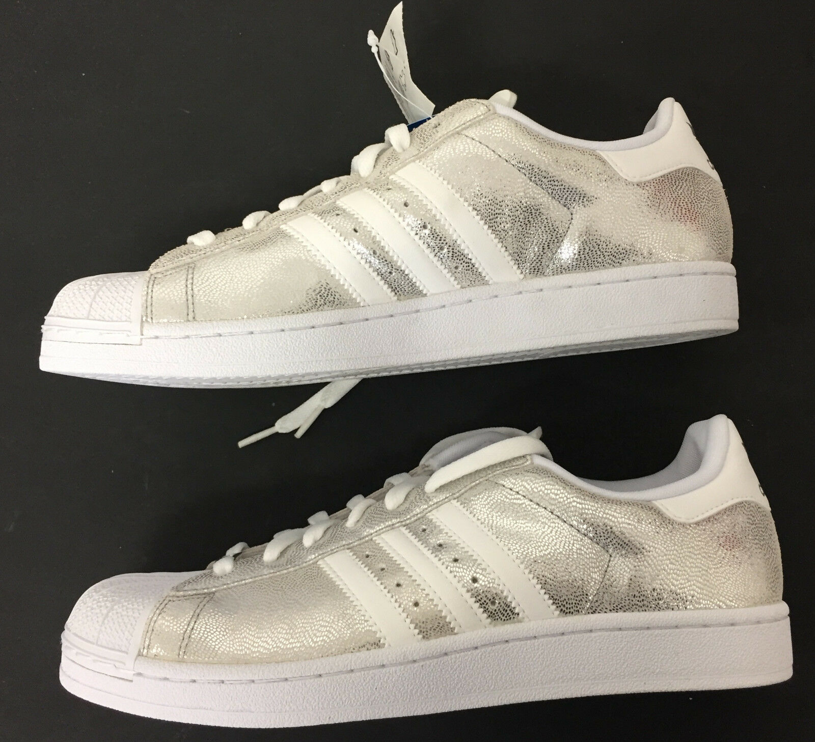 Adidas Originals Superstar 1 Silver Men's Basketball Sneakers 10 1 2  new w tags