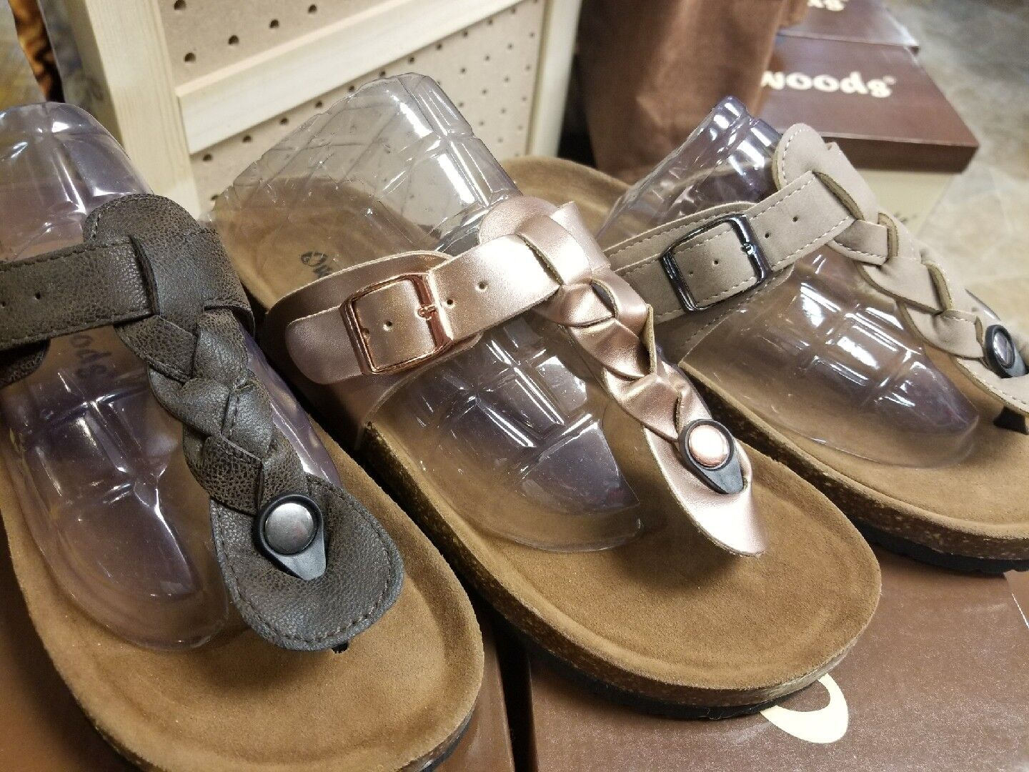 OUTWOODS BRAIDED SANDALS ROSE GOLD 6, TAUPE BROWN SIZE 5, 6, GOLD 7, 8, 9, 10, 11 031f56