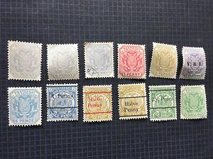 Postage Z.Afr Republiek Stamp Set 12 Stamps MNH & Overprints