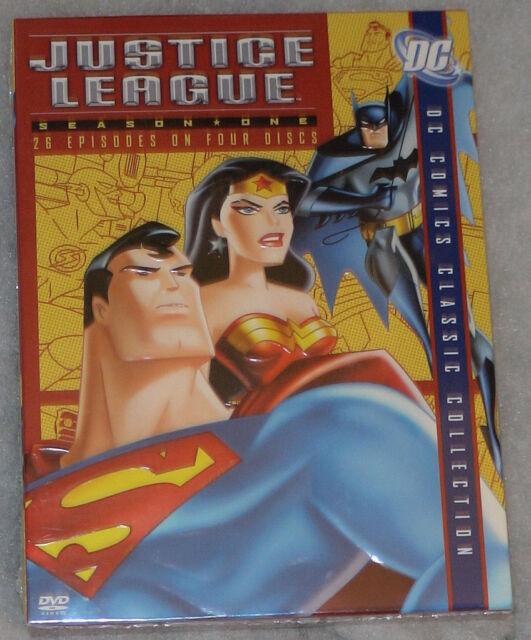 Justice League: Stagione uno 1 (Batman e Superman) - DVD Cofanetto Nuovo