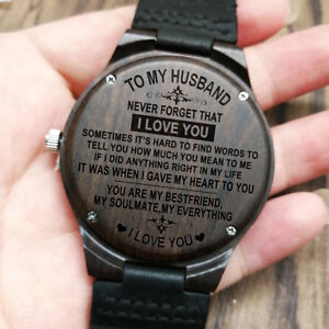 Image Is Loading To My Husband Everything Engraved Wooden Watch