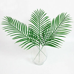 big green palm leaves plastic fake plant artificial leaf home office