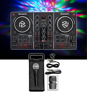 Numark-Party-Mix-DJ-Controller-w-Built-In-Light-Show-Microphone-Cables-Case