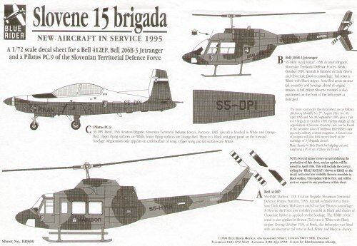 Blue Rider 1//72 Sloveno Territorial Defence Force 1995 #809