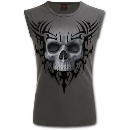 Spiral Direct solennel Crâne Homme Sans Manches T-Shirt Tank Gothique//Biker//Rock//REAPER