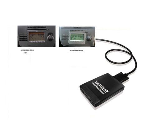 USB AUX en SDHC adaptador mp3 cambiador CD 12 pin compatible con seat Leon 1p