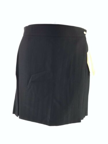 MEDALLION BLACK PLEATED NETBALL GAMES SPORTS SKIRT WOMEN SIZE UK 16 18 10805