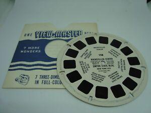 Viewmaster-Reel-158-ROCKEFELLER-CENTER-EXCELLENT