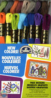 ❆❆❆NEW❆❆❆ DMC Embroidery Floss Pack 8.7 Yards 16 Pkg NEW COLORS Craft Supplies