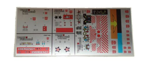 G1 Defensor Blade First Aid Groove Hot Spot Streetwise Sticker Decal Sheet