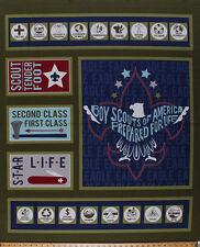"36"" X 44"" Panel Boy Scouts of America Emblem BSA Cotton Fabric Panel D657.07"