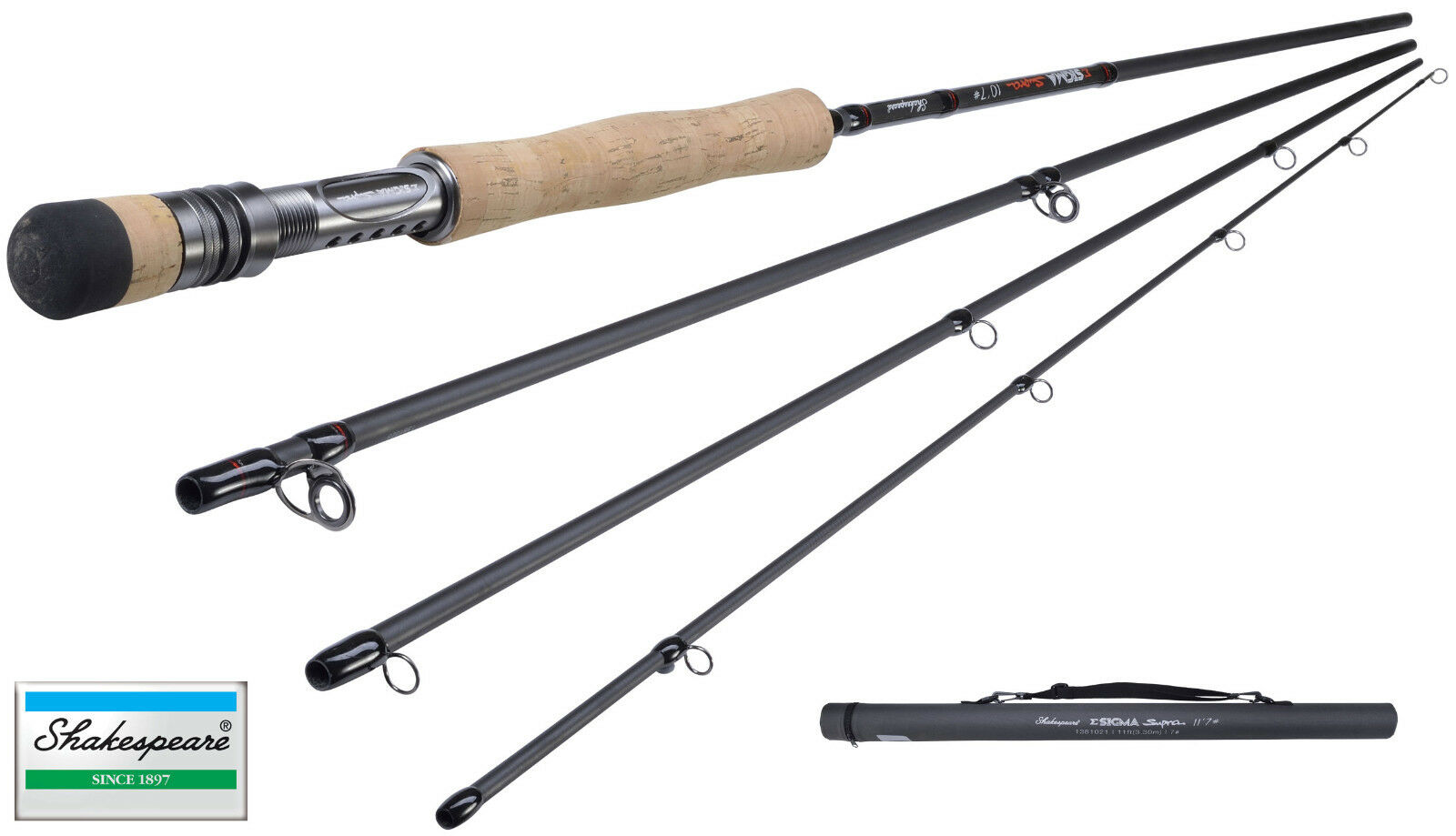 Shakespeare Sigma Supra Mosche da Pesca Canna  10ft  8
