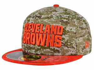 Official 2015 NFL Salute to Service Cleveland Browns New Era 59FIFTY ... 2d0f58846