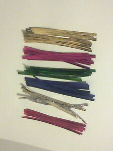 100-4-034-Approx100mm-Long-Metallic-Twist-Ties-for-lollipops-bags-Craft-Party-Bag
