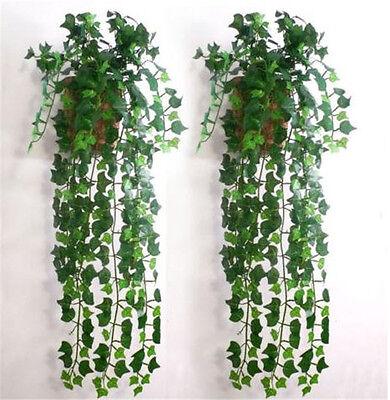 2.5m Artificial Green Ivy Leaf Garland Plant Vine Fake Foliage Flower Home Decor