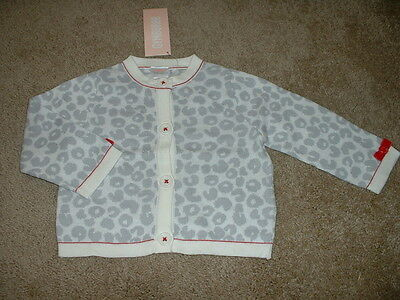 NEW Baby Girls Gymboree Cozy Kitty Leopard Cardigan Sweater Size 0-3 mos NWT