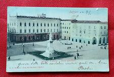 Cartolina Sassari Primi '900 - Piazza Italia Casa Giordano (viaggiata)    11/16