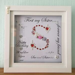 Unique Personalised Box Frame Mum Nana Sister Friend Birthday