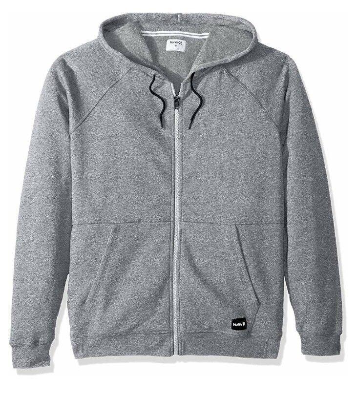 Hurley Crone Full Zip Hoody - Grey Heather - Size Large NEW