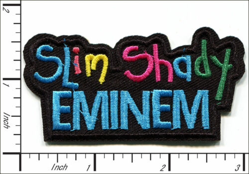 "Slim Shady Eminem~Hip Hop~Rap~Embroidered Patch~3/"" x 1 1//2/""~Iron or Sew On"