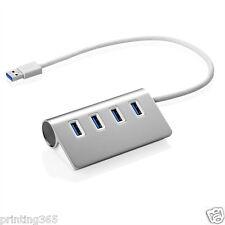 Aluminium 4Port USB 3.0 Hub Verteiler Splitter Adapter für Laptop MAC Notebook
