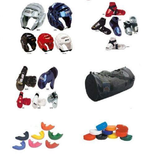8 Piece Proforce Sparring Gear Set Youth Adult Kids Karate Tkd Protective Guards