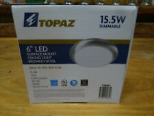 Topaz Dimmable Thin Led Surface Mount Disk Light Ul 3000k 6 Brushed Nickel