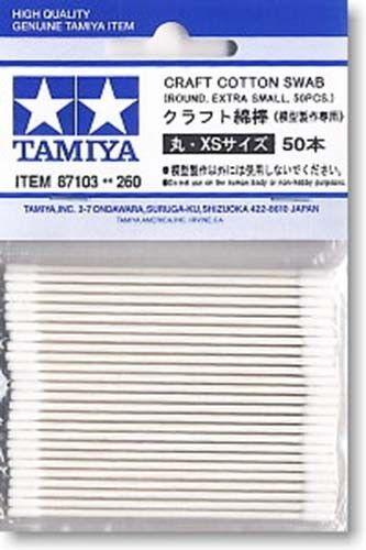 TAMIYA 87103 Craft Cotton Swab Round Extra Small 50pcs PLASTIC MODEL CRAFT TOOLS