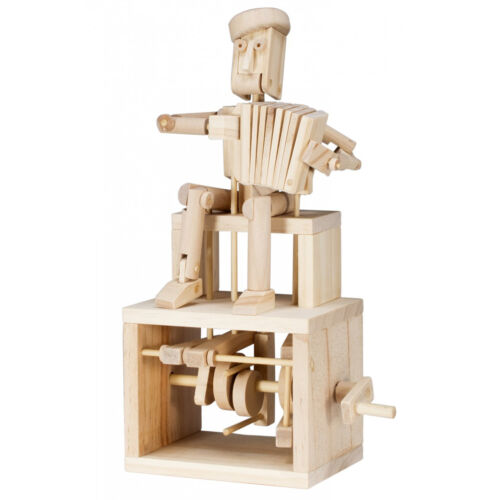 Timberkits Accordion Player Wooden Moving Model Self Assembly Construction Gift