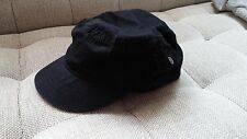 New Stitched Seam Military Cadet Style Hat w/ Pocket Size S/M Black Cap FreeShip